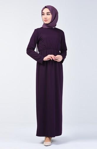 Beli Lastikli Elbise 2025-02 Mor 2025-02