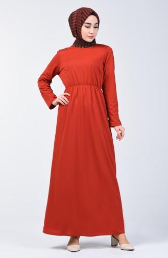 Beli Lastikli Elbise 2025-04 Kiremit 2025-04