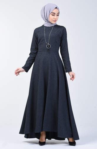 Dress with Necklace 5132-08 Anthracite 5132-08