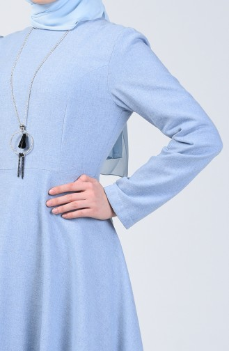 Dress with Necklace 5132-06 Baby Blue 5132-06