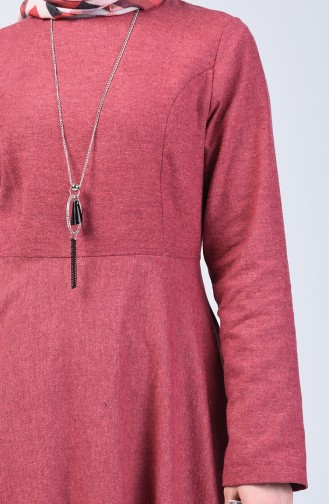 Dress with Necklace 5132-11 Dark Rose Dry 5132-11