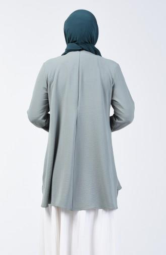 Plus Size Aerobin Fabric Tunic 8309-05 Green 8309-05