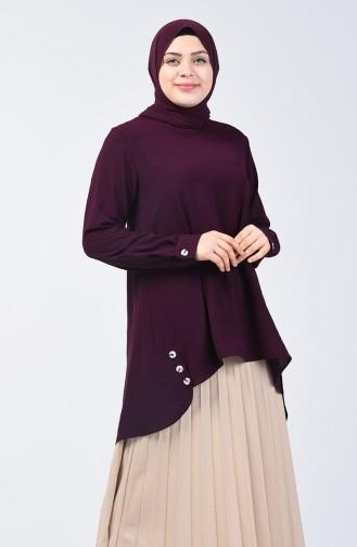 Plus Size Aerobin Fabric Tunic 8309-08 Purple 8309-08