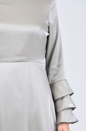 Sleeve Flywheel Jacquard Dress 8165-04 Khaki 8165-04
