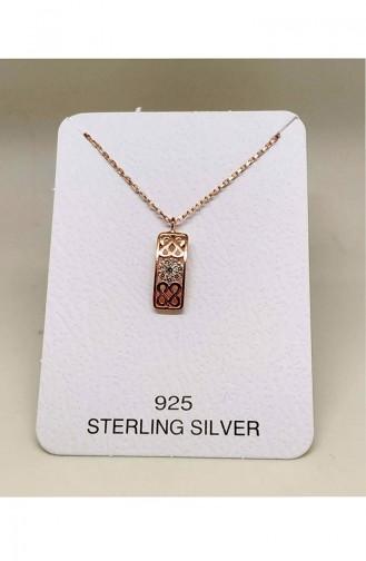 Ladies Silver Necklace MHK010 White 010