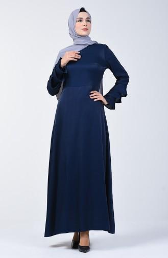 Navy Blue İslamitische Jurk 8165-05