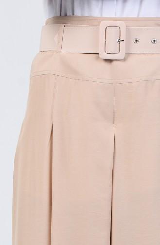 Viscose Trouser Skirt 6436-07 Beige 6436-07