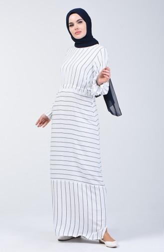 White İslamitische Jurk 4500-03