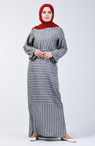 Robe Viscose à Rayures 4500-05 Gris 4500-05