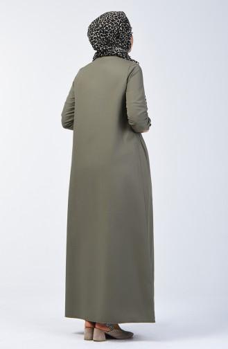 Khaki İslamitische Jurk 3144-05