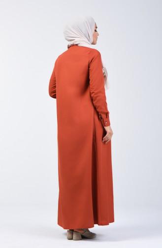 Ziegelrot Hijap Kleider 3144-10