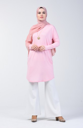 Plain Tunic with Necklace 1268-05 Powder 1268-05