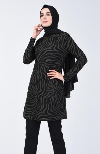 Printed Tunic 1280-05 Khaki 1280-05