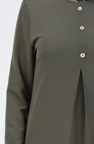 A Pile Krep Tunik 0119-10 Açık Haki Yeşil 0119-10