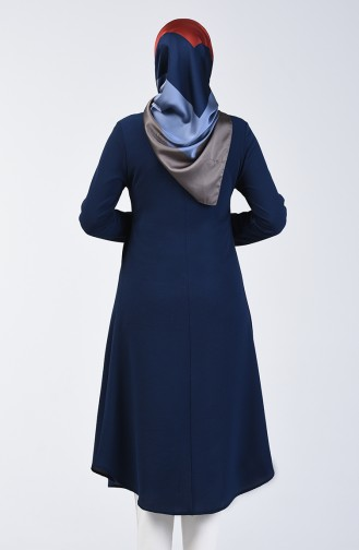 A Pile Crepe Tunic 0119-06 Navy Blue 0119-06