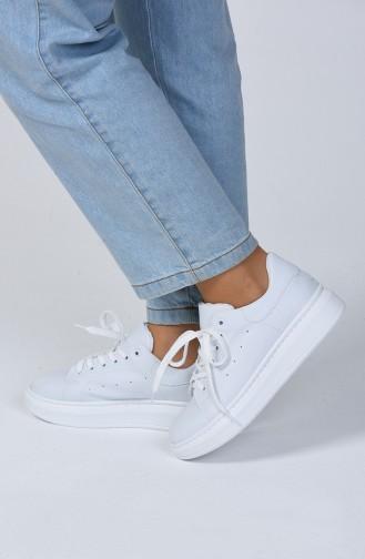 Bayan Spor Ayakkabı 1800-02 Beyaz
