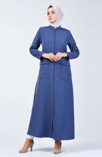 Abaya mit Reissverschluss 2107-01 Indigo 2107-01