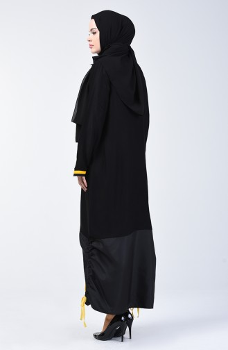 Belmando Kumaş Fermuarlı Kap 4505-03 Siyah Sarı