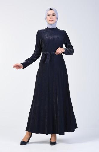 Piliseli Elbise 5115-04 Lacivert 5115-04