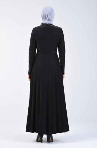 Robe Plissé 5115-05 Noir 5115-05