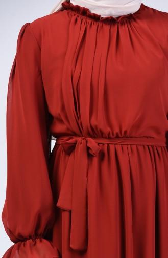 Robe Hijab Couleur brique 5133-03