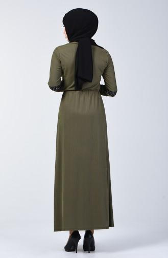 Quasten Kleid 2051-01 Khaki 2051-01