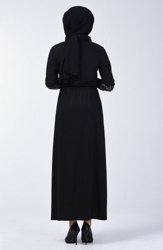 Tasseled Dress 2051-02 Black 2051-02