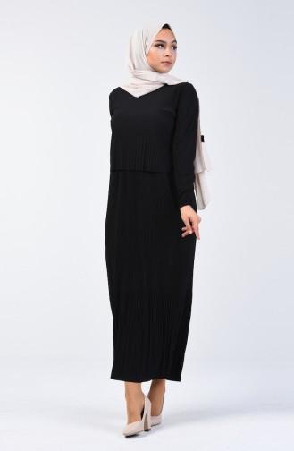 Pleated Dress 2054-01 Black 2054-01