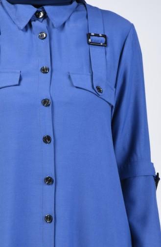 Buttoned Tunic 1312-02 Indigo 1312-02