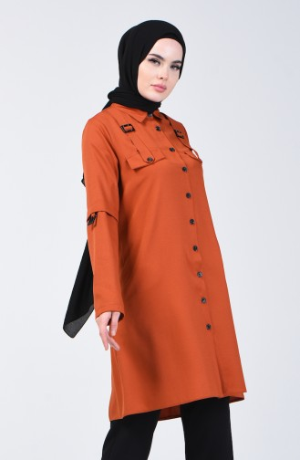 Buttoned Tunic 1312-05 Brick Red 1312-05