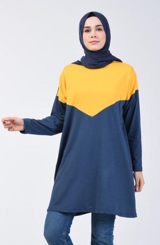 Basic Tunik 5005-03 İndigo Sarı