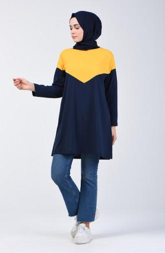 Basic Tunik 5005-04 Lacivert Sarı