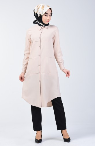 Buttoned Tunic 1622-01 Beige 1622-01