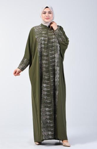 عباءة بأكمام خفاش كاكي 9Y3929400-01