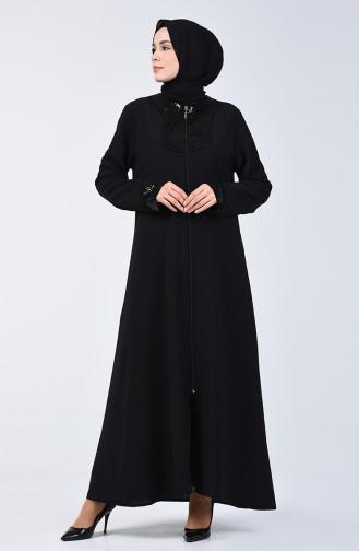 Payetli Ferace 1052-01 Siyah