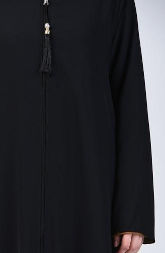 Çift Taraflı Ferace 1056-01 Siyah Yağ Yeşili 1056-01