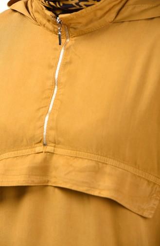 Tensel Tunika mit Reißverschluss Detail 6307-06 Senf 6307-06