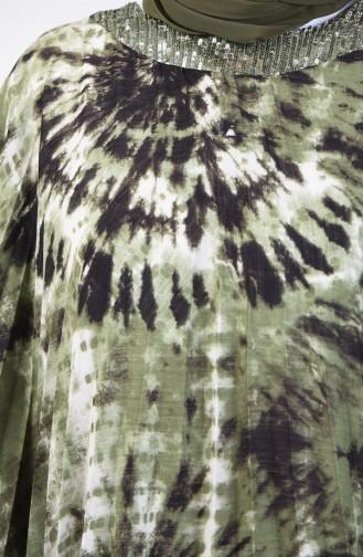 Pleated Poncho 9Y6958501-01 Khaki 9Y6958501-01