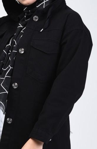 Schwarz Jacke 6376-04