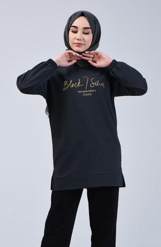 Elastic Sleeve Sweatshirt 1100-02 Smoked 1100-02