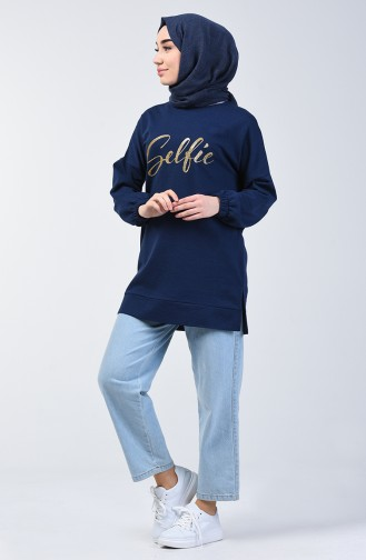 Navy Blue Sweat shirt 1400-03