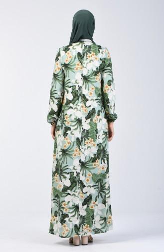 A Pile Viskon Elbise 8207D-01 Çağla Yeşili 8207D-01