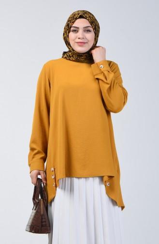 Plus Size Aerobin Fabric Tunic 8309-02 Mustard 8309-02