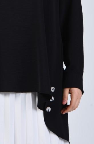 Plus Size Aerobin Fabric Tunic 8309-04 Black 8309-04