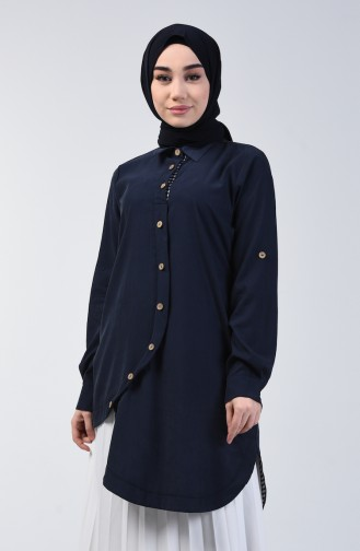 Navy Blue Tuniek 4701-01