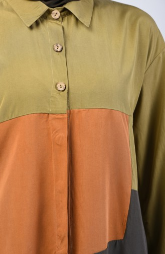 Topped Tunic 4702-02 Oil Green 4702-02