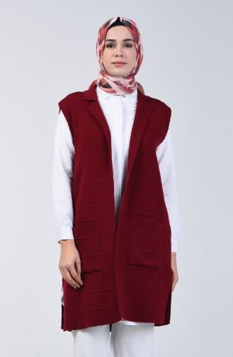 Trikot Weste mit Tasche 4205-05 Weinrot 4205-05