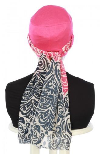 Chiffon Shawl Combed Bonnet B0036-10-1 Fuchsia 0036-10-1