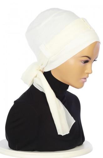Chiffon Shawl Combed Bonnet B0036-8-22 Cream 0036-8-22