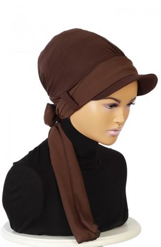 Chiffon Schal Bonnet  B0038-5-6 Braun 0038-5-6